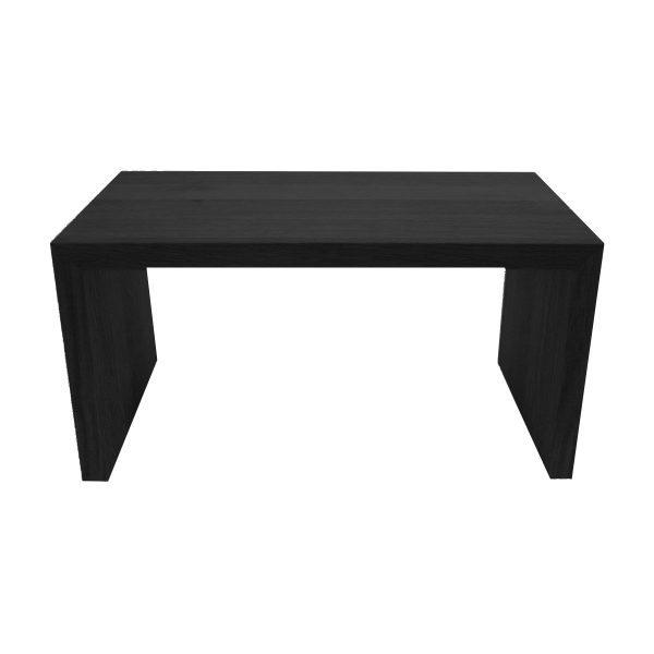 black Painted Square Oak Riser 350x180x180