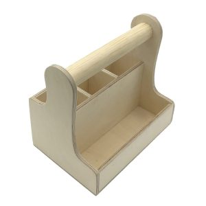 Natural cutlery & condiment caddy 250x165x230