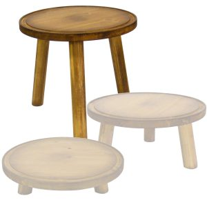 high 210mm pine milking stool in set
