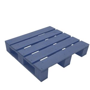 kingscote blue painted mini pallet 354x325x70