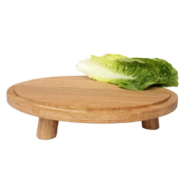lacquered Oak Milking Stool 290Dx70