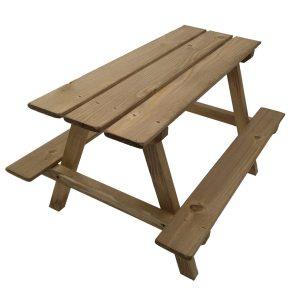 light oak picnic bench