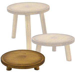 low 70mm pine milking stool in set
