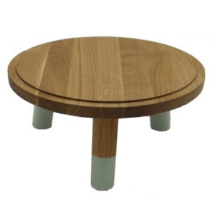 Tetbury Green Dipped Oak Milking Stool 290Dx140