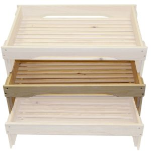 medium GN1/1 rustic slatted tray riser in set
