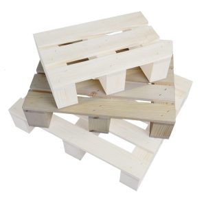 medium Stained rustic mini pallet in stacked set