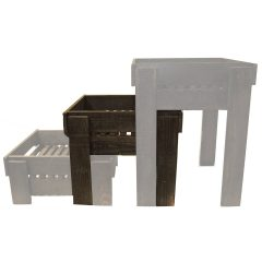 medium rustic slatted tray riser in set