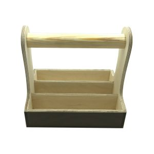 natural blackboard cutlery caddy 250x195x230 front view
