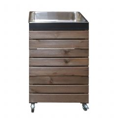 Rustic Crate Gastronorm Trolley & Blackboard Panel