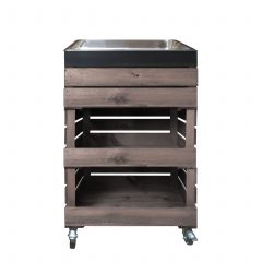 Rustic Crate Gastronorm Trolley with Drop Fronts