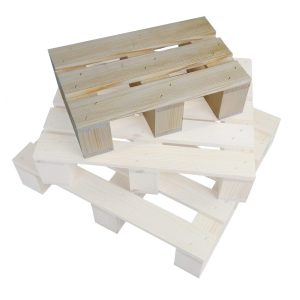 small Stained rustic mini pallet in stacked set