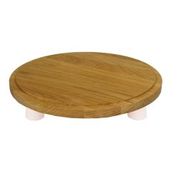 Cherrington Pink Dipped Oak Milking Stool 290Dx70