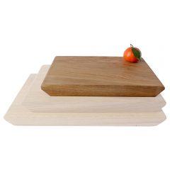 250mm rustic tapered edged oak chopping board