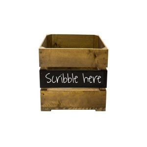 Rustic Mid Panel Blackboard Crate 300x370x250