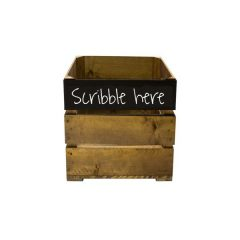 Rustic Top Panel Blackboard Crate 300x370x250