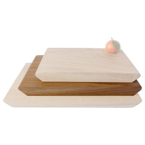 300mm rustic tapered edged oak chopping board