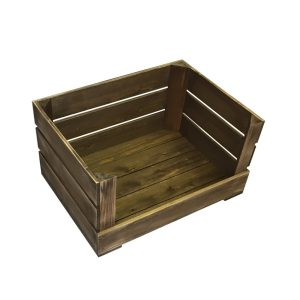 500m rustic drop front crate
