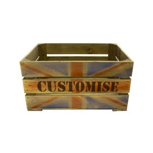 Union Jack Bespoke Stencil Crate 500x370x250