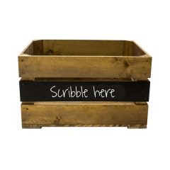 Rustic Mid Panel Blackboard Crate 500x370x250