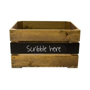 500mm Rustic mid panel Blackboard Crate