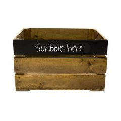 Rustic Top Panel Blackboard Crate 500x370x250