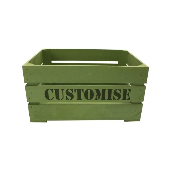 Painted Bespoke Stencil Crate 500x370x250