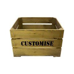 Rustic Bespoke Stencil Crate 500x370x250