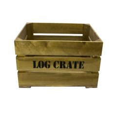Rustic Log Crate 500x370x250