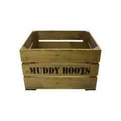 Rustic Muddy Boots Crate 500x370x250
