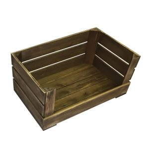 600m rustic drop front crate