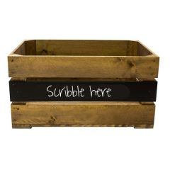 Rustic Mid Panel Blackboard Crate 600x370x250
