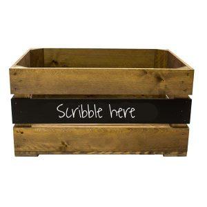 600mm Rustic mid panel Blackboard Crate