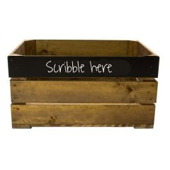 Rustic Top Panel Blackboard Crate 600x370x250