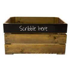 600mm Rustic top panel Blackboard Crate