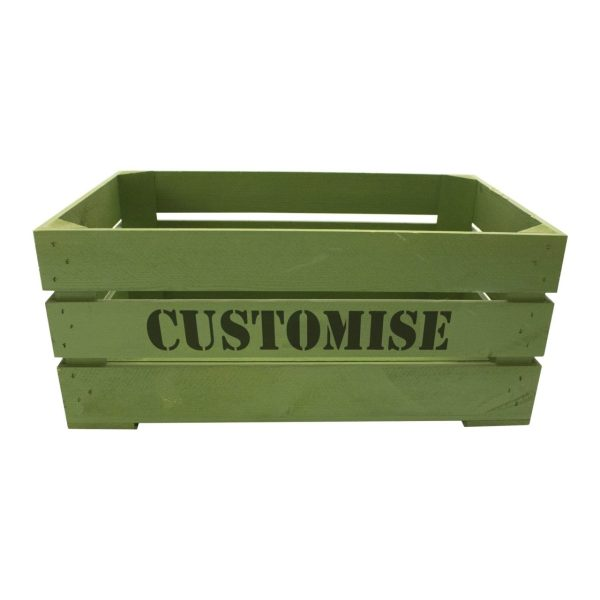 Painted Bespoke Stencil Crate 600x370x250