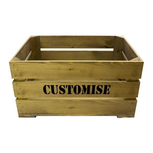 Rustic Bespoke Stencil Crate 600x370x250