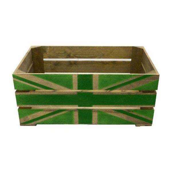 Rustic Green Jack Crate 600x370x250