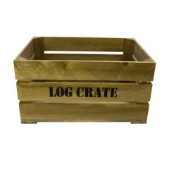 Rustic Log Crate 600x370x250