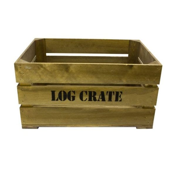 Rustic Log Crate 600x370x250
