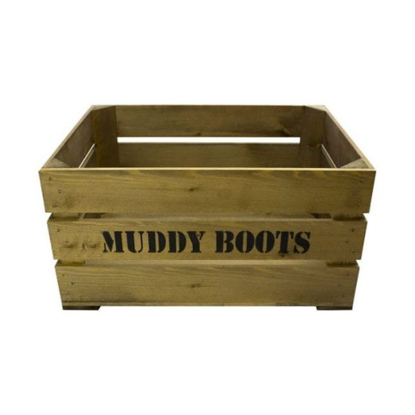 Rustic Muddy Boots Crate 600x370x250