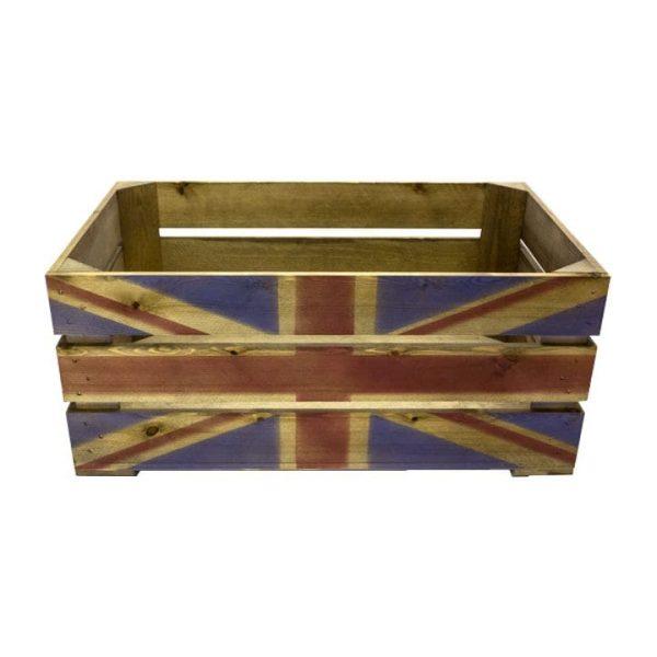 Rustic Union Jack Crate 600x370x250