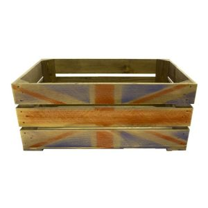 600mm rustic weathered union jack crate