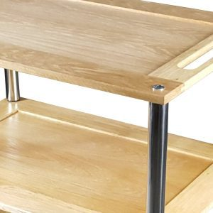 Bourton Lacquered Oak Hospitality Trolley detail