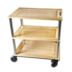 Bourton Lacquered Oak Hospitality Trolley side view