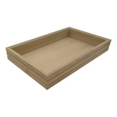 GN 1/1 Ribbed Oak Stacker Box 530x325x80