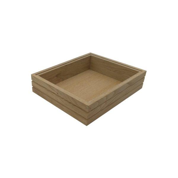 GN 1/2 Ribbed Oak Stacker Box 325x264x80