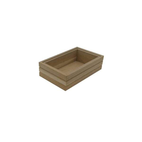GN 1/4 Ribbed Oak Stacker Box 265x162x80