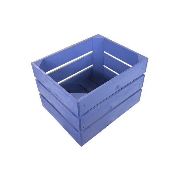 Kingscote Blue 300mm painted crate