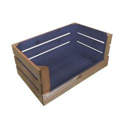 Kingscote Blue colour burst drop front crate 600x370x250