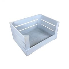Nailsworth Blue Drop Front Painted Crate 500x370x250